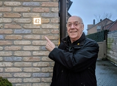 Fons van kerkhove N-VA reflecterende huisnummer